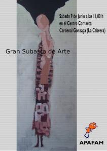 Cartel Subasta Solidaria APAFAM en La Cabrera