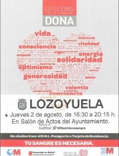 campaña donacion de sangre lozoyuela 2012