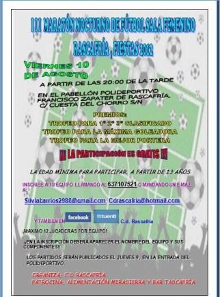 torneo futbol sala femenino nocturno rascafría 2012