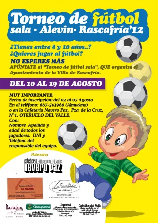 campeonato de futbol sala alevin rascafria 2012